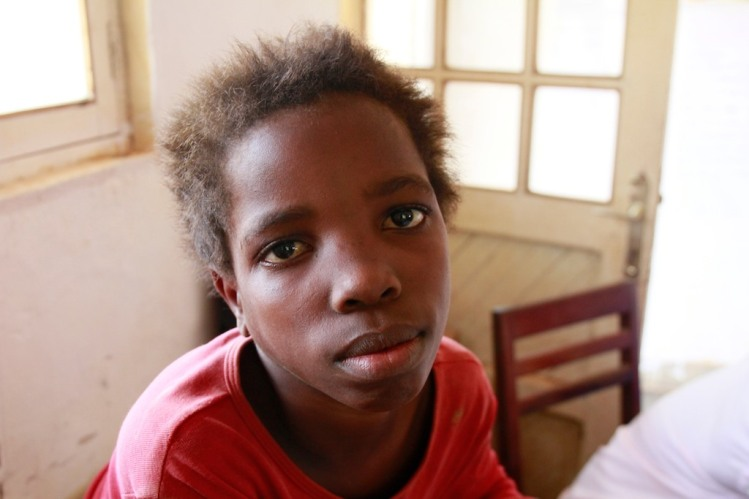 "Abandoned by her parents, when the fled the city of Mambasa during a rebels attack. When we met ""Simone"" she followed us in hope of us to take care of her. Unfortunalty we couldn't. I don`t know what happened to her."